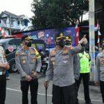 istimewa Kakorlantas Polri Irjen Pol Istiono saat mengecek langsung kondisi arus lalu lintas dan pelaksanaan tes swab antigen di pos PAM Tangguh Polres Bogor, Simpang Gadog, Sabtu (13/2/2021).