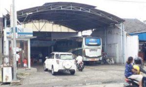 Salah satu loket Bus AKAP yang ada di Kota Pematangsiantar. Foto :ferry/mistar.id