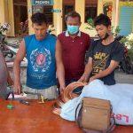 Tersangka dan Barang bukti diamankan Polsek Serbelawan. Foto: Humas Polres Simalungun.