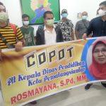 Massa LBH-IT Berorasi Didalam Gedung Dinas Pendidikan Kota Pematang Siantar, Kamis(30/09/2021