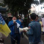 Pergerakan Mahasiswa Islam Indonesia Siantar-Simalungun saat melakukan Aksi Unjukrasa. Foto: Dok Istimewa.